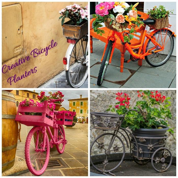 Creative bicycle planters