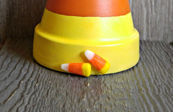 attaching candy corn