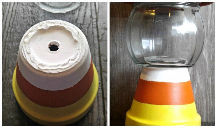 Terracotta Candy Jar Easy Diy Clay Pot Candy Corn Holder