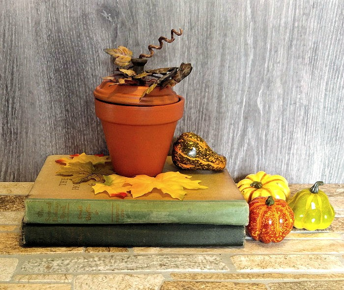 clay pot pumpkin vignette