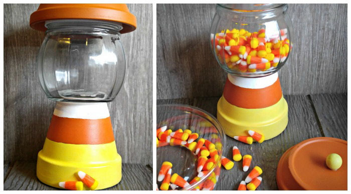 Filling candy jar