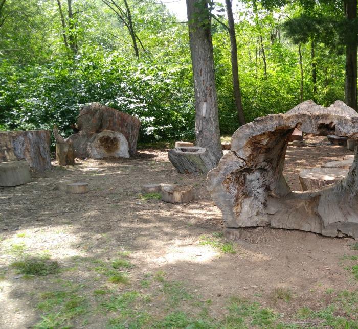 Log climbing area