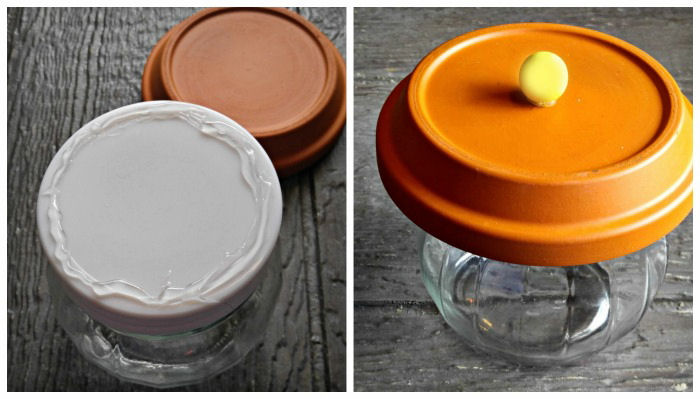 Attaching candy jar lid