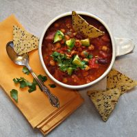 Turkey chili with pumpkin puree