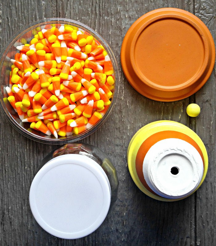 Supplies for a candy corn holder