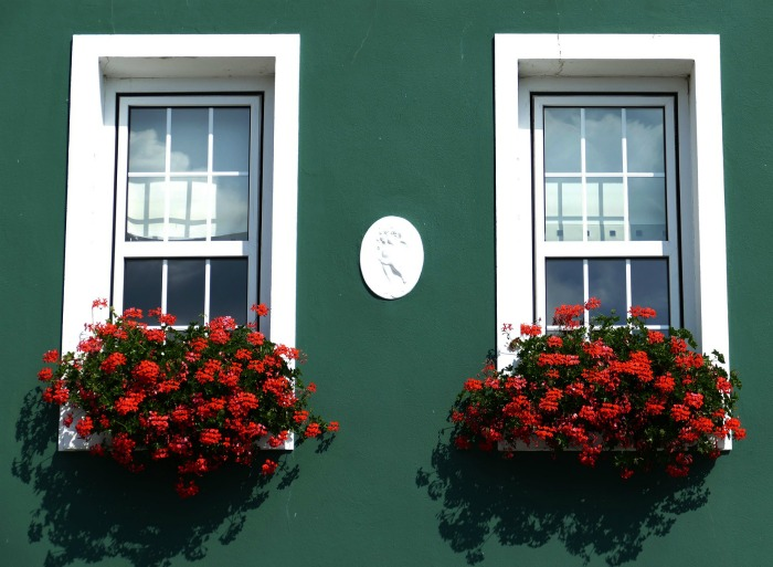 Matching window boxes