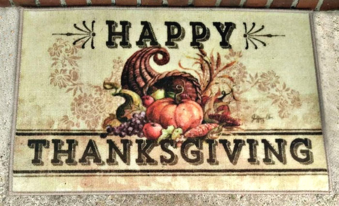 Door mat for Thanksgiving
