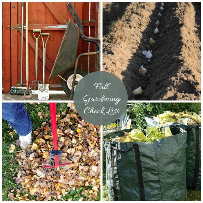 Fall gardening maintenance