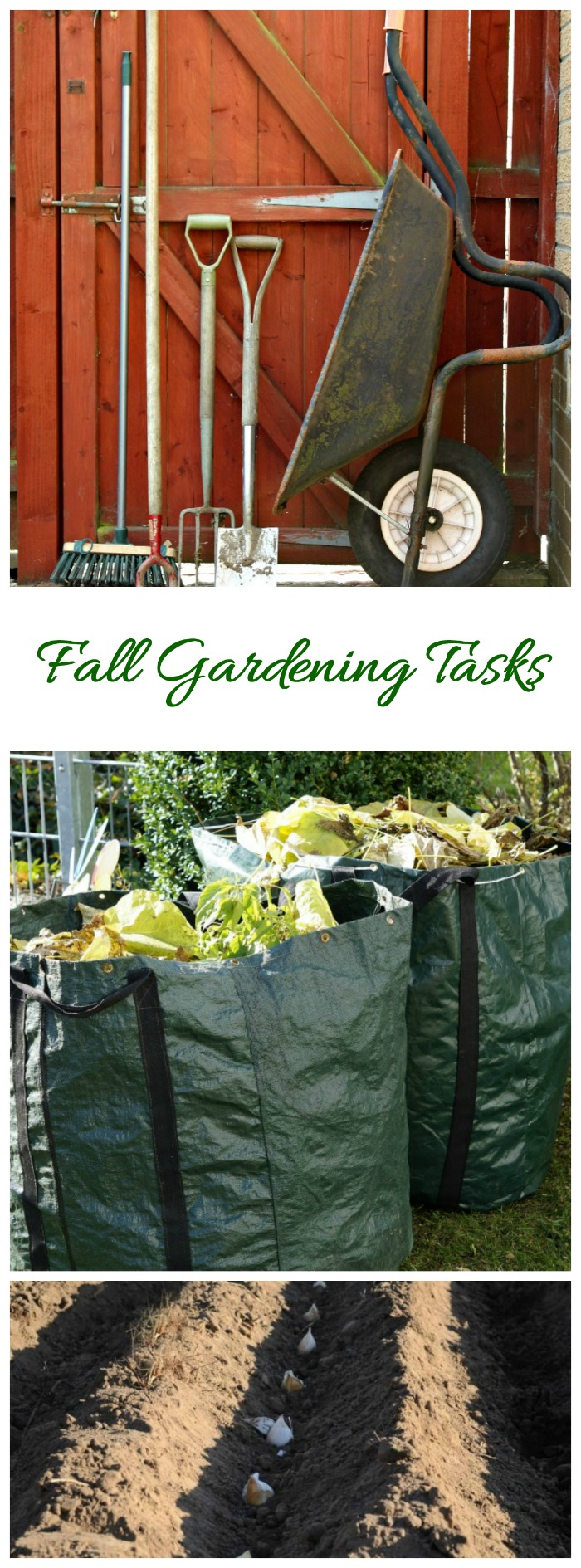 Do things on this fall gardening checklist now and you'll find things a lot easier next spring. #fallgardening #gardenchecklist #fallgarden