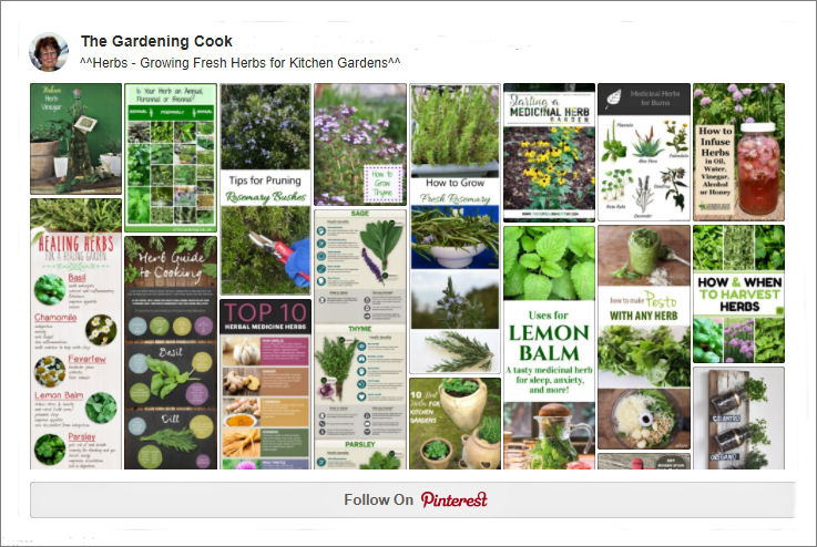 Pinterest Herb garden board