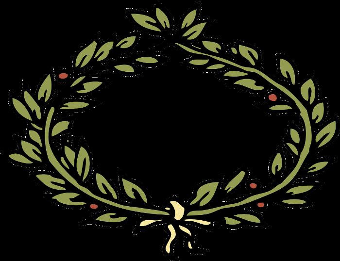 Corona de laurel de bahía