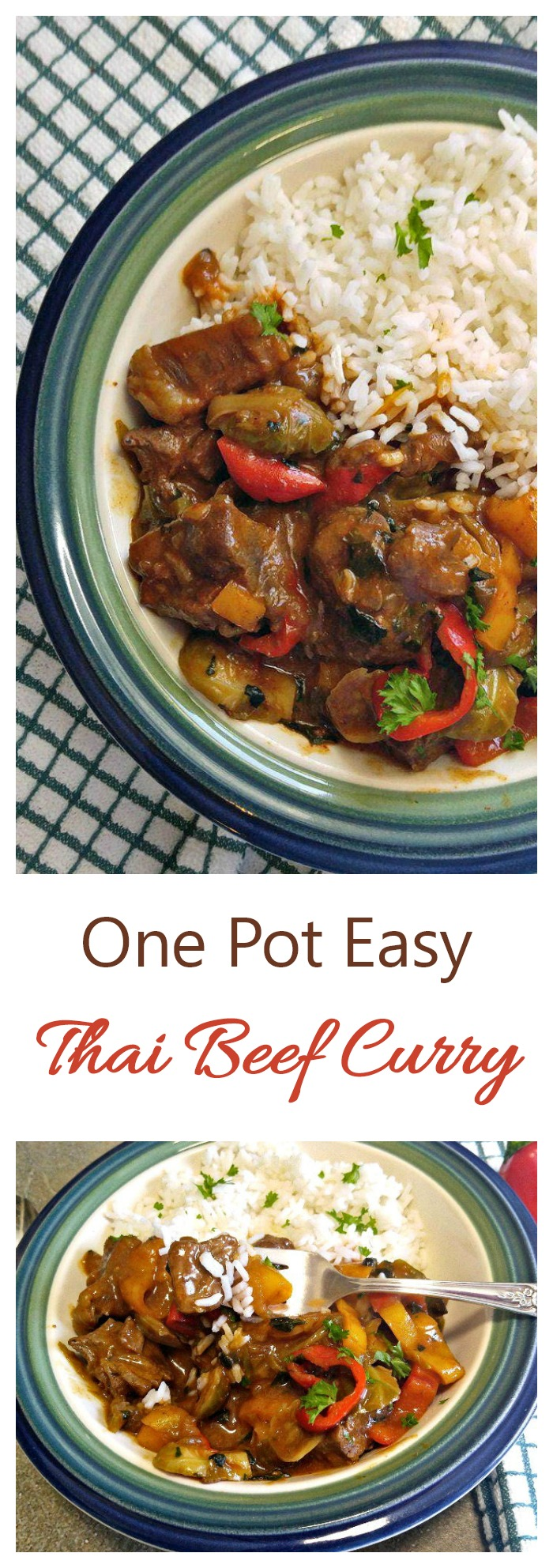 This easy one pot beef curry is rich is flavor and is super easy to make #beefcurry #thaicurry