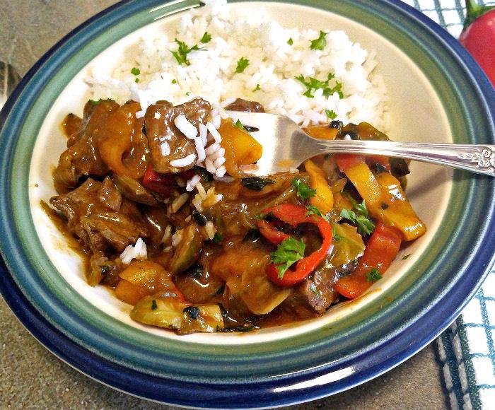 Tasting beef cuirry