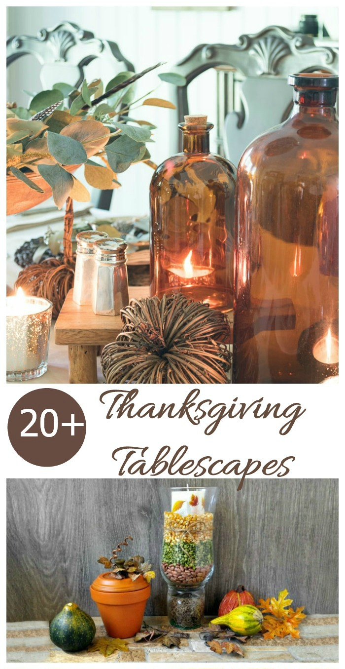 Need some inspiration for your Thanksgiving table? Try one of these Ideas for Thanksgiving Tablescapes