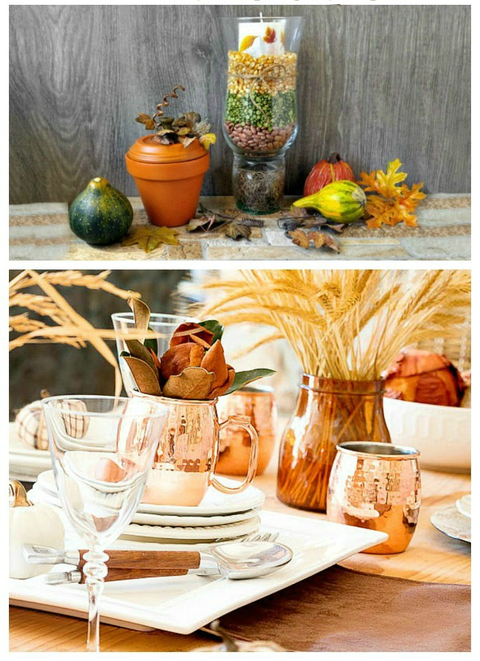 Ideas for Thanksgiving Tablescapes to dress up your holiday table