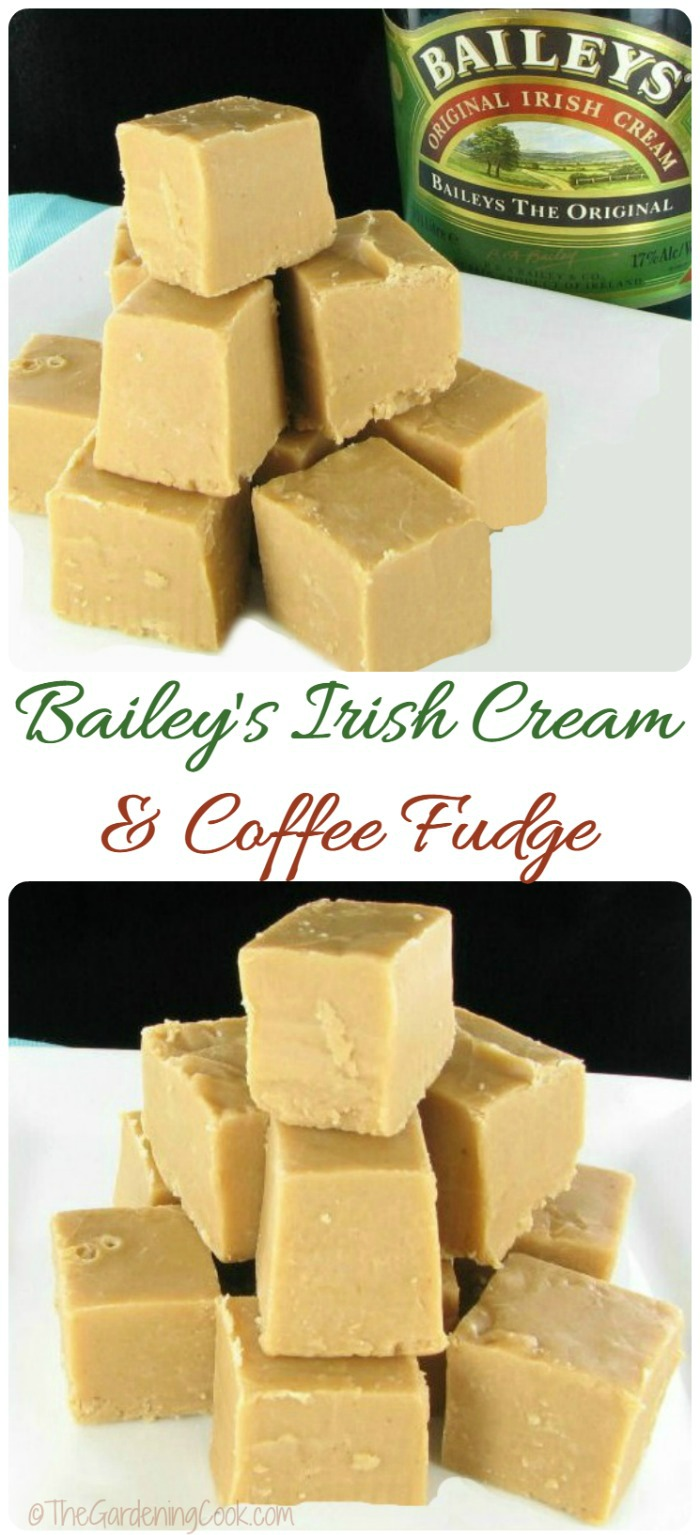 This recipe for Bailey's Irish cream and coffee fudge has the most amazing flavor. Make some for the holidays for a really decadent sweet trreat.