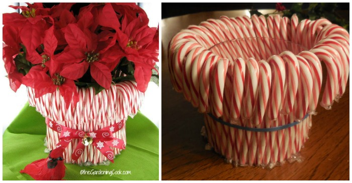Diy Candy Cane Vase Easy Holiday Decor Project