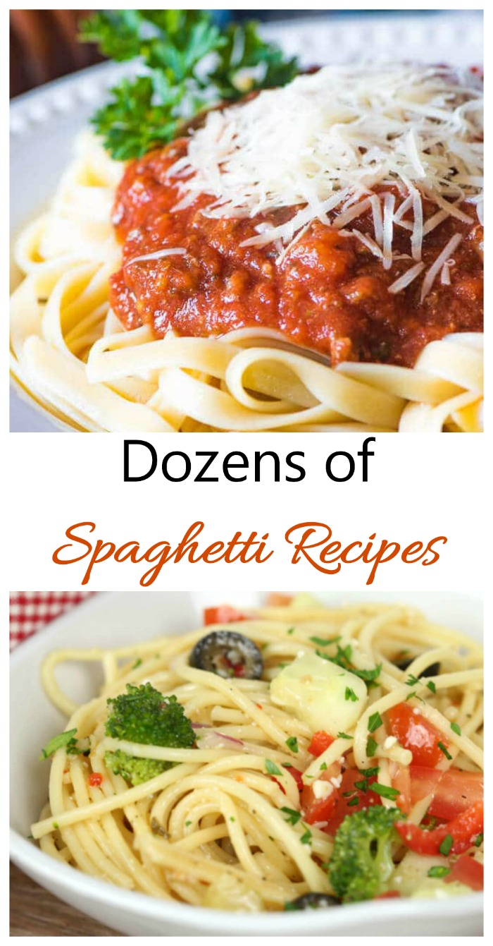 Dozens of spaghetti recipes