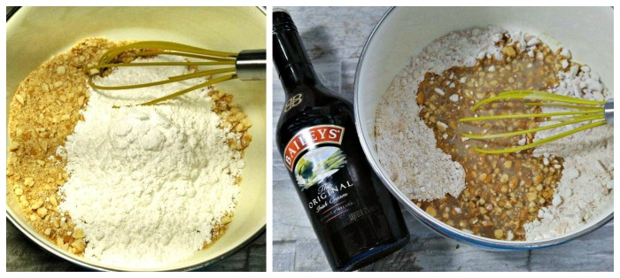 Add Bailey's Irish Cream to cookie mixture