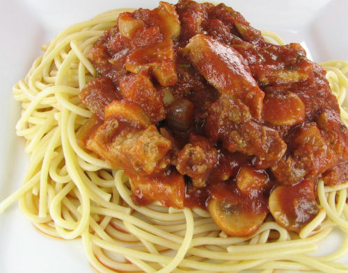 Spaghetti sauce with pork