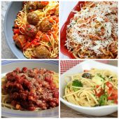 Spaghetti recipes for Italian night