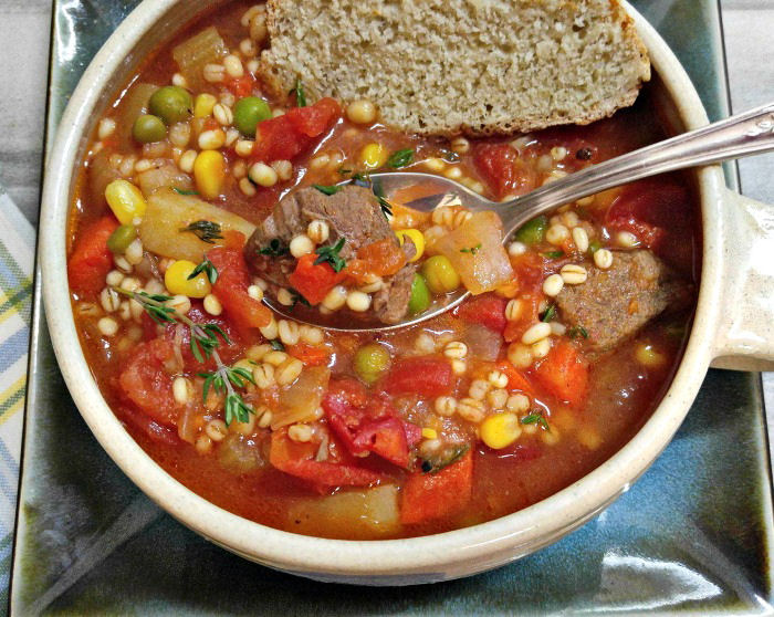 Tasting this delicious Vegetable beef and barley soup
