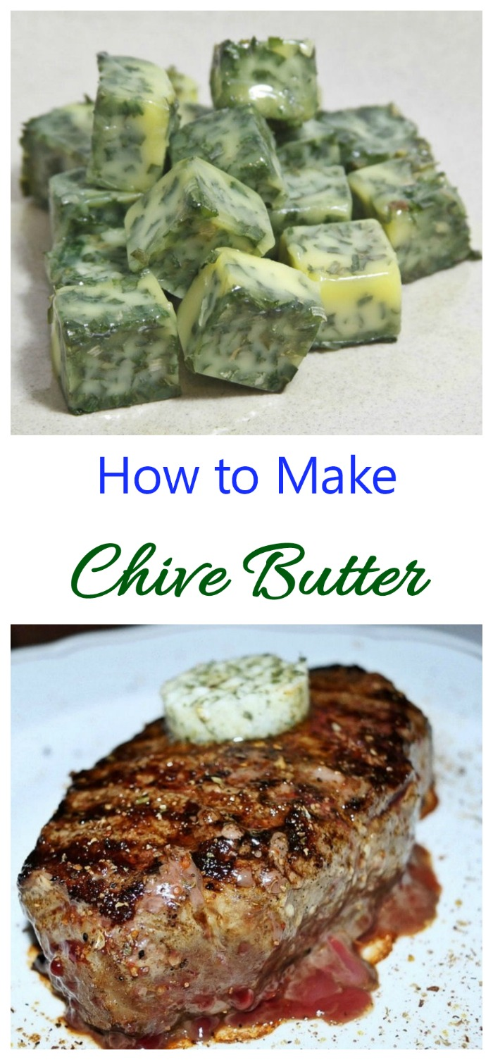 Making chive butter at home