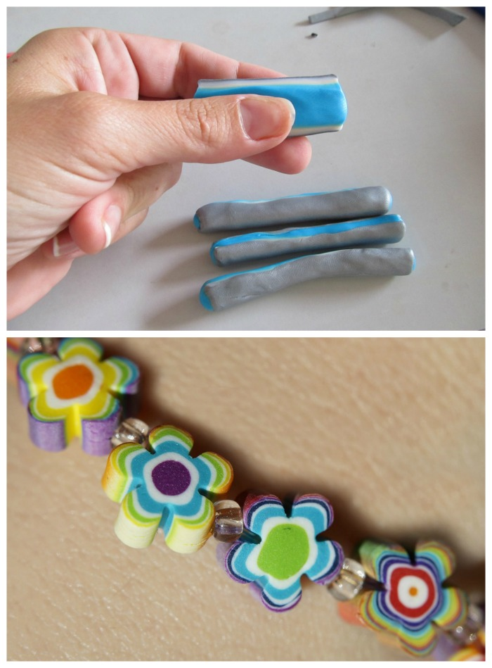 Use silpat mats for forming and cooking polymer clay
