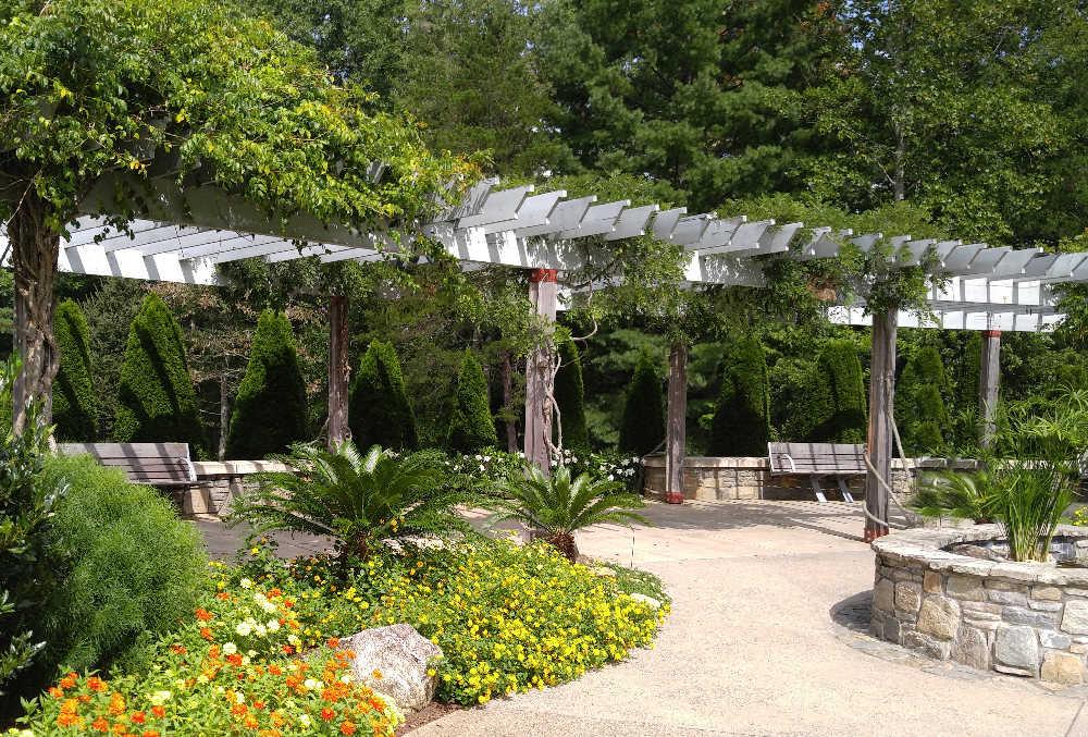 Pergola over a walkway at the NC Arboretum in Ashville, NC.