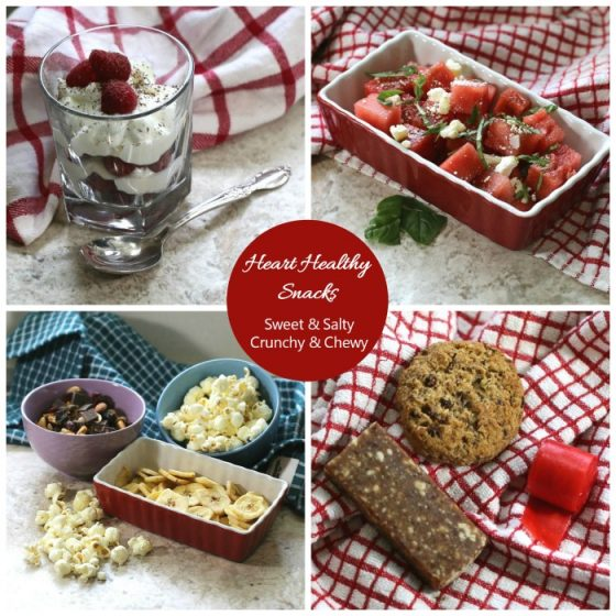 Heart Healthy Snacks - Sweet - Salty - Chewy and Crunchy