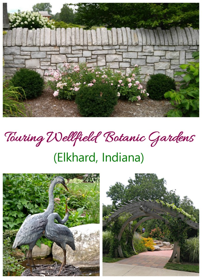 Wellfield Botanical Gardens in Elkhart Indiana features 36 large acres along the Christiana Creek.