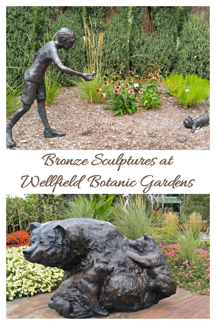 Bronze sculptures were on display in Wellfield Botanic Gardens