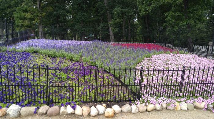 Quilt garden in Elkhart, Indiana
