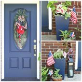 Patriotic door entry makeover