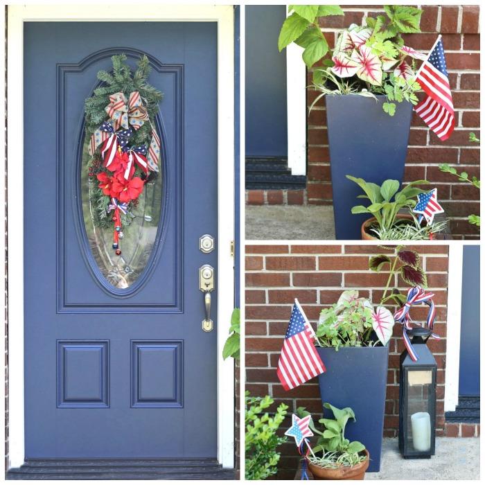 Patriotic door entry makeover