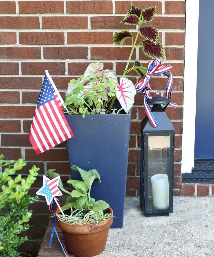 Planter and lantern grouping
