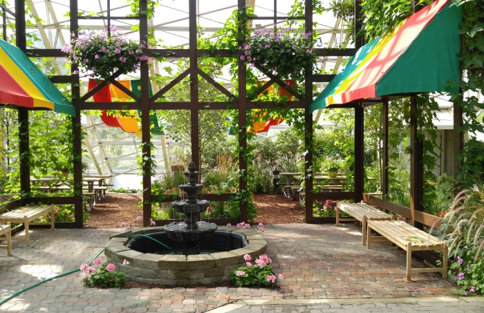 Fountain In The Atrium Of The Foellinger Freimann Botanical Conservatory