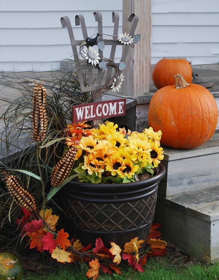 Fall porch scene