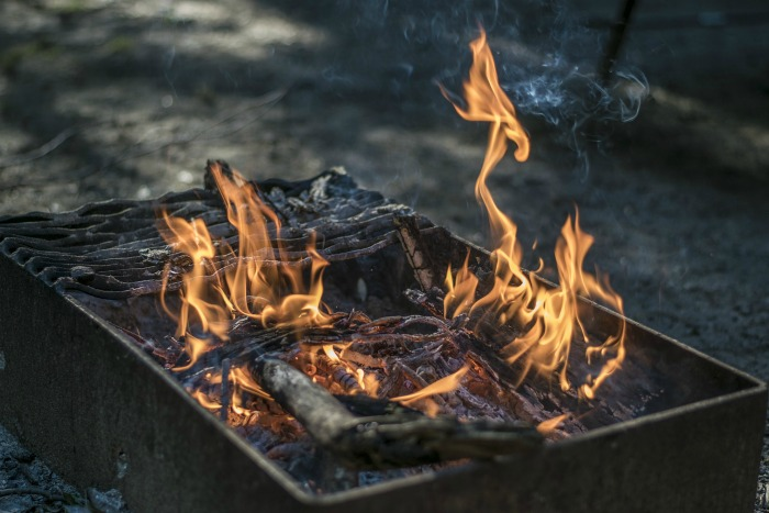 Build your campfire slowly for best cooking