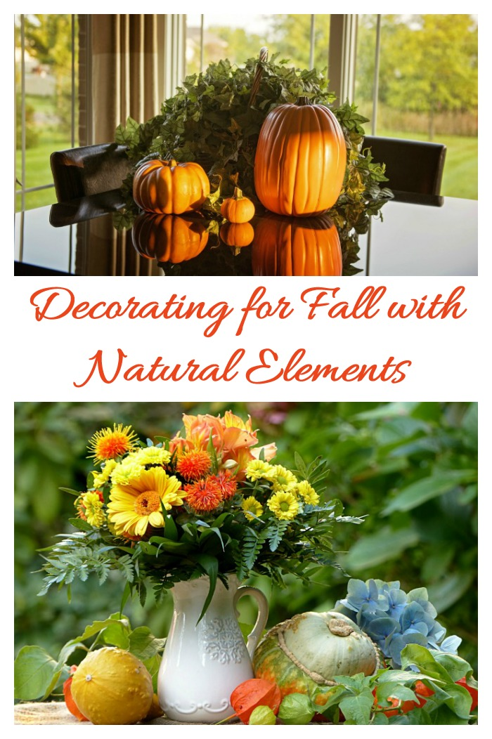 Use supplies from nature to decorate your home for fall