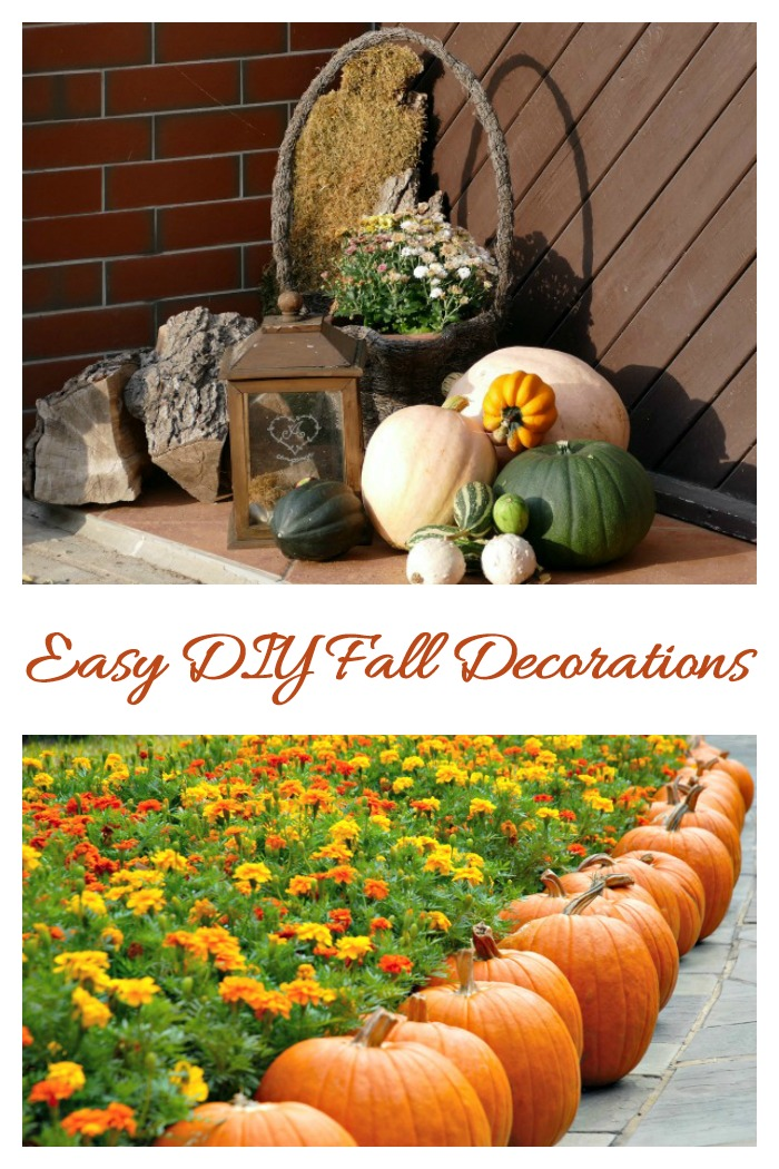 Make decorating for fall easy by using garden supplies