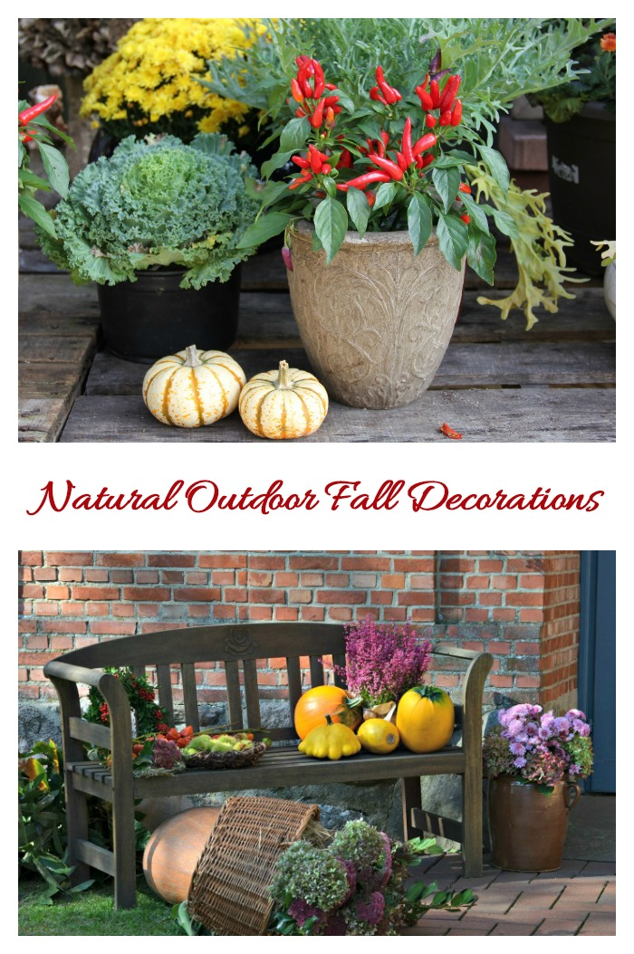 Make use of nature in these Fall outdoor decorations