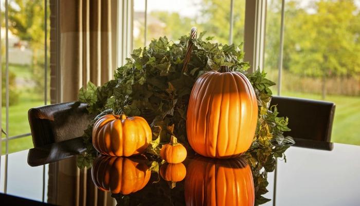 Pumpkin table display