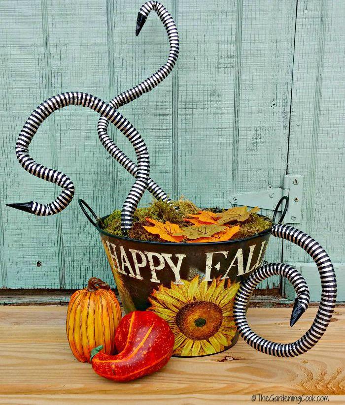 snake basket autumn decor