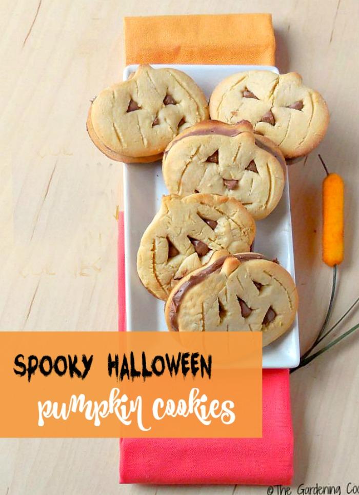 double Halloween Pumpkin cookies.
