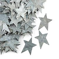 "Factory Direct Craft 100 Galvanized Metal Primitive Stars (1"" Long)"