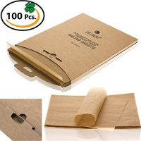 ZeZaZu Parchment Paper Sheets for baking, Precut 12x16 inches - Exact Fit for Half-sheet Baking Pans, Unbleached, Non-stick, RECLOSABLE PACK