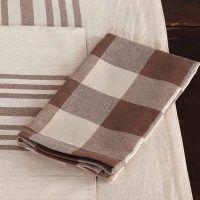 "Piper Classics Dublin Buffalo Check Napkins, Set of 4, 18"" x 18"", Country Farmhouse Kitchen & Dining Table Décor"