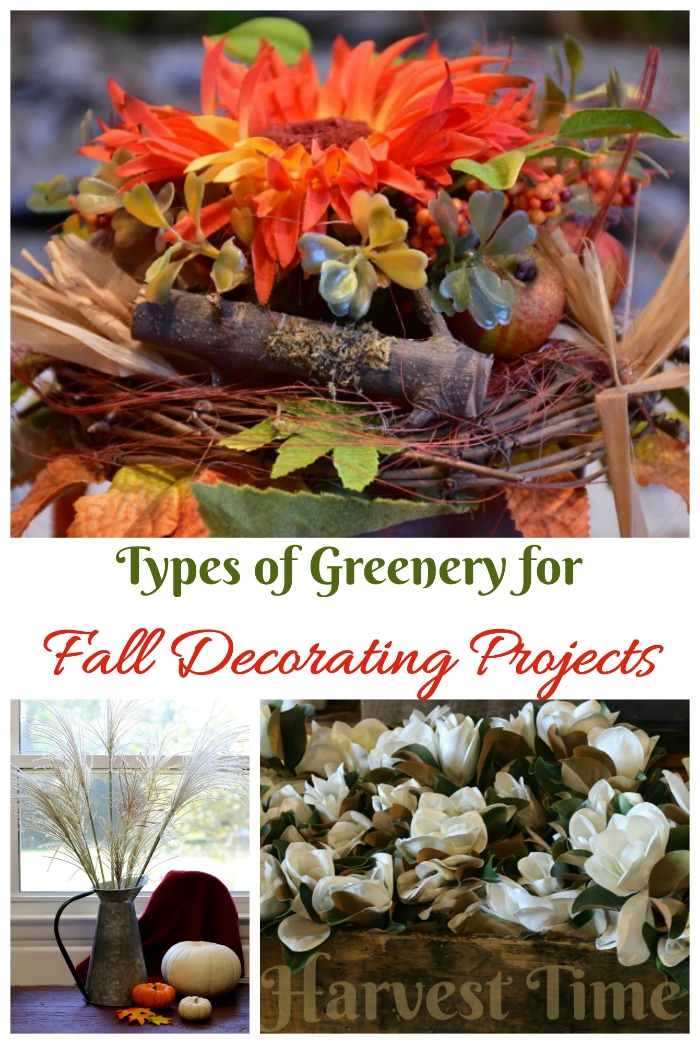 Fall greenery for decorating projects
