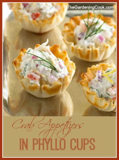 Phyllo Cup Crab Appetizers with Cream Cheese and Dill